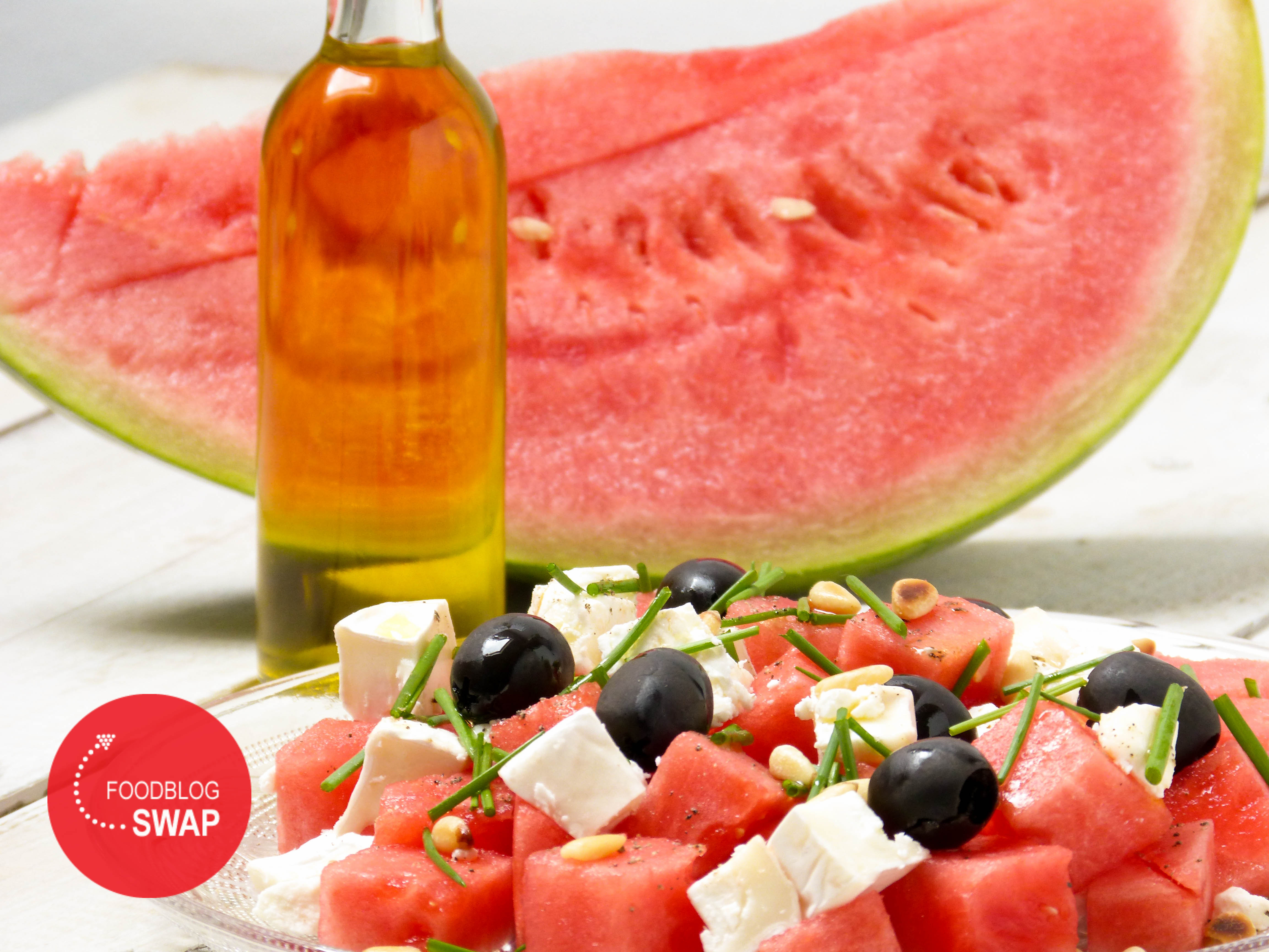 watermeloen met feta